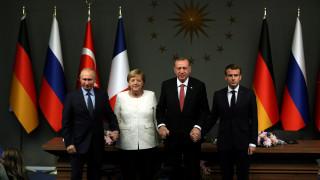 Μέρκελ - Πούτιν - Μακρόν και Ερντογάν ζητούν κατάπαυση πυρός διαρκείας στη Συρία