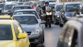 Κυκλοφοριακή συμφόρηση στο κέντρο λόγω της μαθητικής πορείας