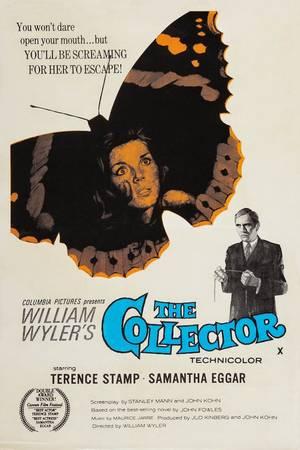"""Ο Συλλέκτης (The Collector)/ """"Ο Φρέντι ένας τραπεζικός και αποξενωμένος άντρας συλλέγει πεταλούδες, αλλά αποφασίζει να επεκτείνει τη συλλογή του με ανθρώπινα δείγματα. Θα απαγάγει την μαθήτρια Μιράντα Γκρέι και θα την αιχμαλωτίσει σε ένα εξοχικό σπίτι που"""