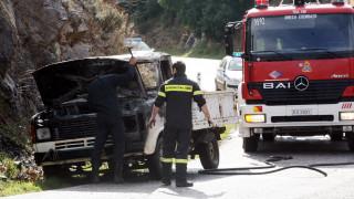 Φωτιά σε όχημα στην Αθηνών-Λαμίας: Αυξημένη η κίνηση