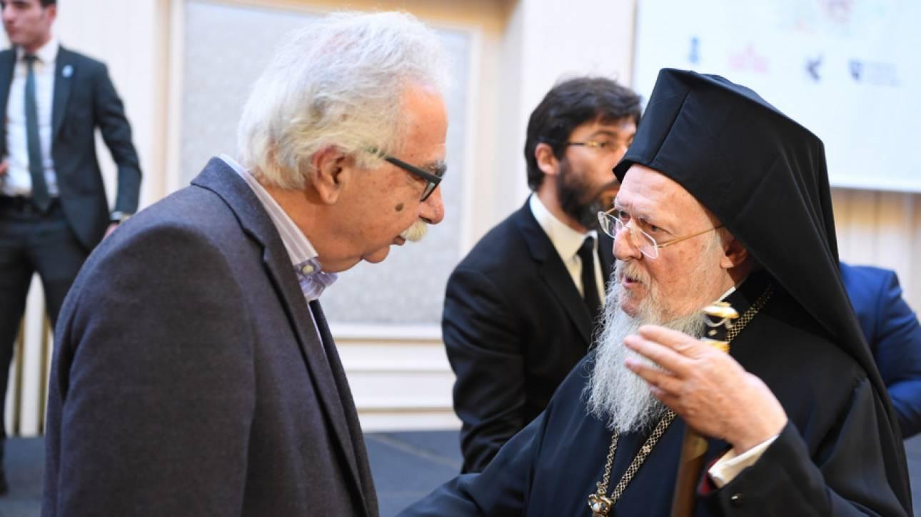 Γαβρόγλου: Άκουσα και θα μεταφέρω τους προβληματισμούς του Πατριάρχη