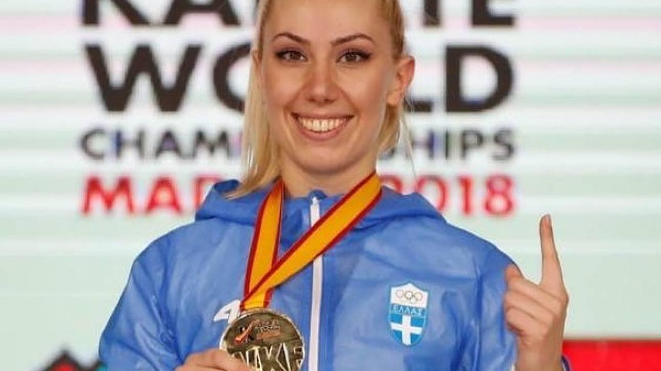 Παγκόσμια πρωταθλήτρια η καρατέκα Ελένη Χατζηλιάδου