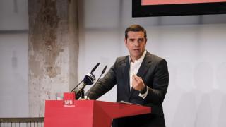 Συμπόρευση Αριστεράς και Σοσιαλδημοκρατίας ζήτησε ο Αλέξης Τσίπρας από το Βερολίνο