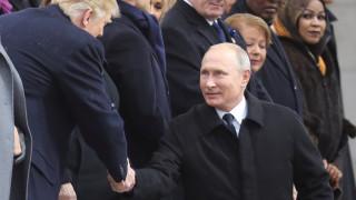Η χειραψία Τραμπ-Πούτιν στην Αψίδα του Θριάμβου