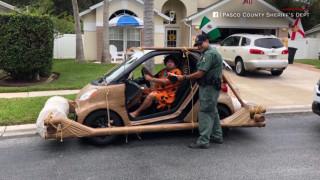 Ο «Φρεντ Φλίντστοουν» αντιμέτωπος με σύλληψη και κατάσχεση οχήματος