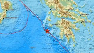 Σεισμός: Μετασεισμική δόνηση νοτιοδυτικά της Ζακύνθου