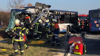 Γερμανία: Μετωπική σύγκρουση σχολικών λεωφορείων με 40 τραυματίες
