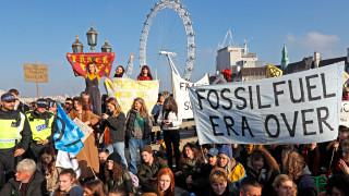 Αποκλεισμός πέντε γεφυρών του Λονδίνου από διαδηλωτές για την κλιματική αλλαγή