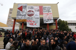 Θεσσαλονίκη: Βομβαρδισμένο τοπίο η Πολυτεχνική του ΑΠΘ