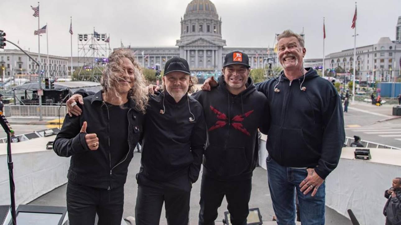 Οι Metallica δωρίζουν 100.000 δολάρια για τους πληγέντες από τις φονικές φωτιές της Καλιφόρνια