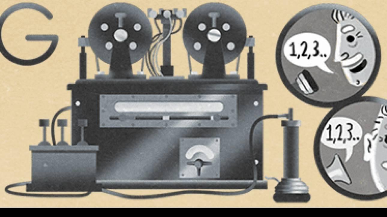 Google Doodle για τον αφιερωμένο στον Valdemar Poulsen