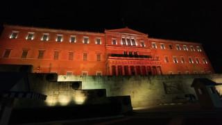 Φωταγώγηση της Βουλής για την Παγκόσμια Ημέρα για την εξάλειψη της βίας κατά των γυναικών