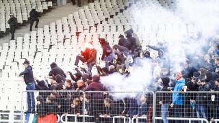 Εικόνες - δυσφήμηση για την Ελλάδα στο ΟΑΚΑ: Σοβαρά επεισόδια με οπαδούς της ΑΕΚ και του Άγιαξ