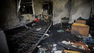 Ένας νεκρός σε φωτιά κοντά στο στρατόπεδο Καποτά στο Μενίδι