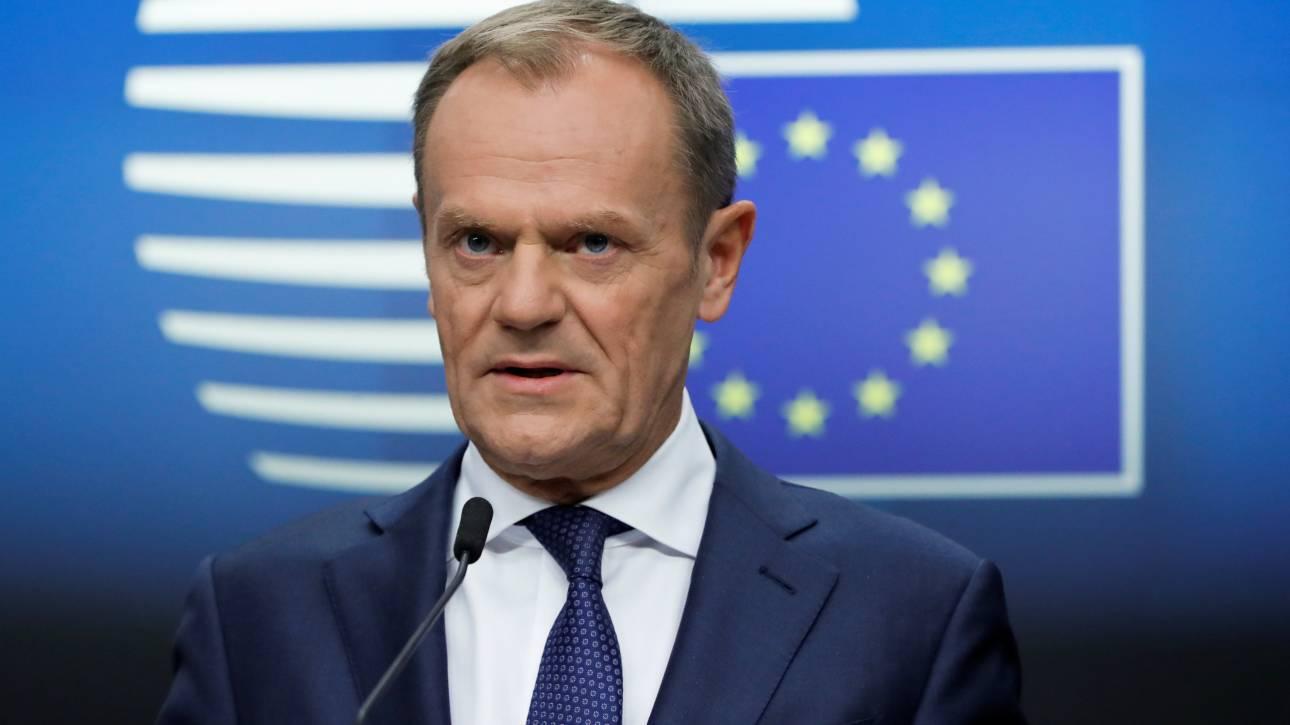 Τουσκ: Η ΕΕ θα παρατείνει τις κυρώσεις κατά της Ρωσίας - Καμία συμφωνία ή καθόλου Brexit