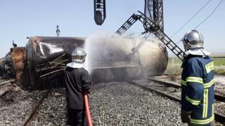 Φθιώτιδα: Πυρκαγιά σε τρένο με εγκλωβισμένους και τραυματίες - Η άσκηση ετοιμότητας μέσα από εικόνες