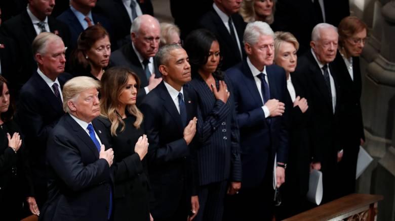 Οι ΗΠΑ αποχαιρετούν τον Τζορτζ Μπους τον πρεσβύτερο