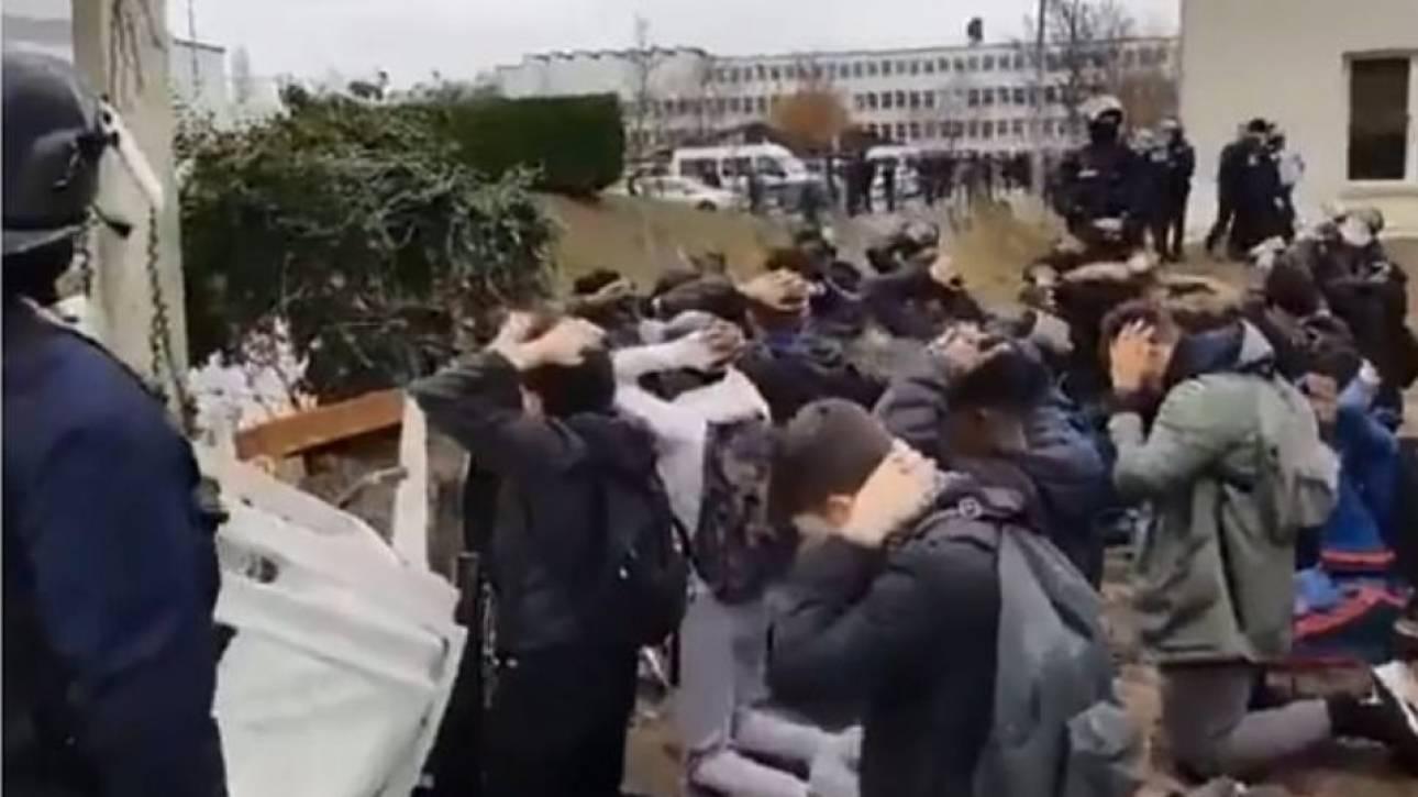 Κατακραυγή στη Γαλλία: Κακοποίηση μαθητών από αστυνομικούς (vid)