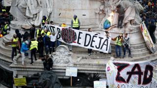 Χάος στο Παρίσι: Φωτιές, δακρυγόνα και εκατοντάδες συλλήψεις «κίτρινων γιλέκων»