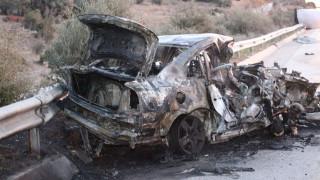 Πολύνεκρο τροχαίο στην Καβάλα: Αυτοκίνητο εξετράπη της πορείας του και τυλίχθηκε στις φλόγες