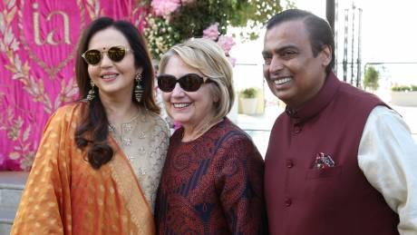 Μπιγιονσέ και Χίλαρι Κλίντον στο γάμο της Ινδής κληρονόμου που κόστισε 100 εκατομμύρια δολάρια