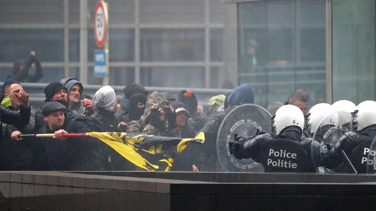 Βρυξέλλες: Σοβαρά επεισόδια σε διαδήλωση της ακροδεξιάς