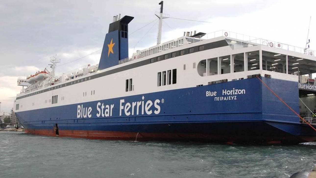 Τηλεφώνημα για βόμβα στο πλοίο Blue Star Horizon