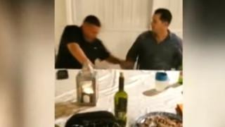 Σκληρό βίντεο: Έπεσε νεκρός από «αδέσποτη» σφαίρα σε τραπέζι για τα Χριστούγεννα
