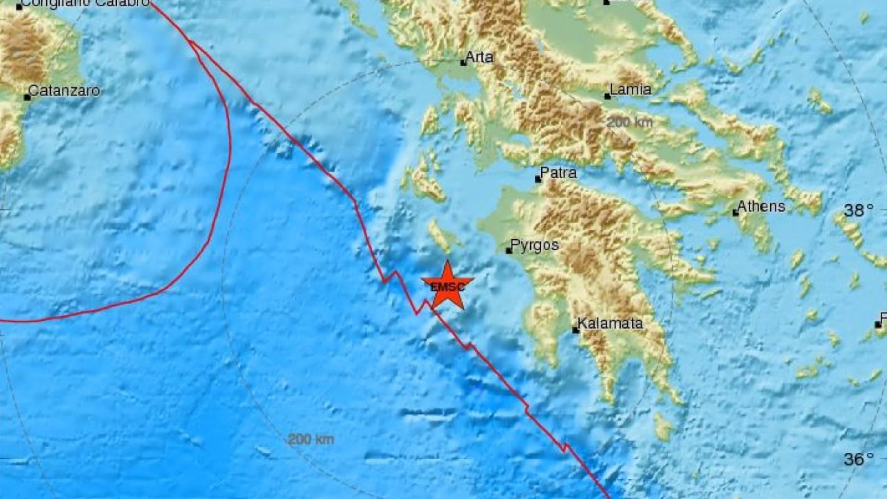 Ισχυρός σεισμός κοντά στη Ζάκυνθο