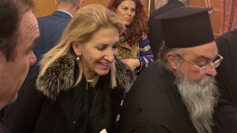 Στην κοπή βασιλόπιτας της Αρχιεπισκοπής Αθηνών η Ιωάννα Καλαντζάκου