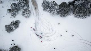 Κακοκαιρία στην Αττική: Απαγόρευση της κίνησης φορτηγών λόγω χιονόπτωσης σε Μαλακάσα και Βίλια