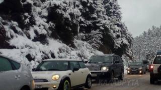 Κακοκαιρία «Σοφία»: Καραμπόλα 20 οχημάτων στα χιονισμένα Καλάβρυτα