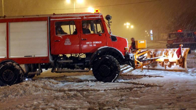 Κακοκαιρία: Δεκάδες κλήσεις στην Πυροσβεστική Υπηρεσία