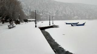 «Μαγικές» εικόνες: Πάγωσε η λίμνη της Καστοριάς!
