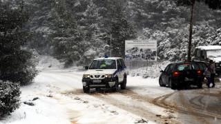 Κακοκαιρία: Κλειστή η λεωφόρος Πάρνηθας - Προβλήματα στο οδικό δίκτυο όλης της χώρας