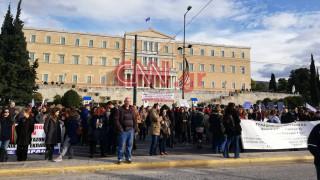 Συλλαλητήριο αναπληρωτών εκπαιδευτικών στο κέντρο της Αθήνας