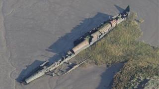 Το κουφάρι γερμανικού υποβρυχίου από τον Α'ΠΠ αποκάλυψε η άμπωτη στη Γαλλία