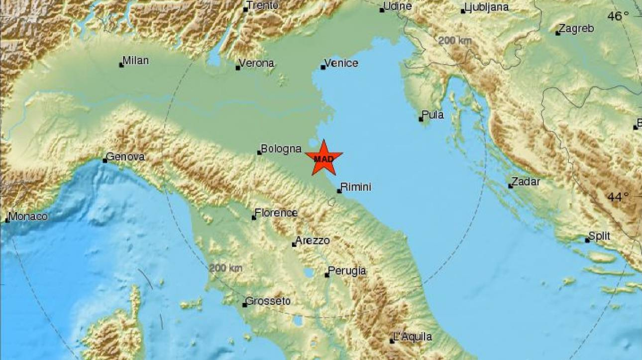 Σεισμός στην Ιταλία - Αισθητός σε άλλες τρεις χώρες