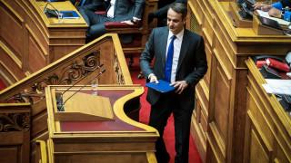 """Ψήφος εμπιστοσύνης: «Όποιος δώσει ψήφο εμπιστοσύνης λέει """"ναι"""" και στη Συμφωνία» λέει ο Μητσοτάκης"""
