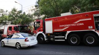 Περιπολικό τυλίχθηκε στις φλόγες στην Αττική Οδό