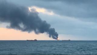 Τραγωδία στο σταθμό του Κερτς: Τουλάχιστον 10 νεκροί από την πυρκαγιά στα δύο πλοία (vids)