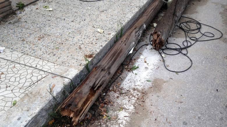 Σοβαρές ζημιές σε χωριό στην Ηλεία μετά το πέρασμα ανεμοστρόβιλου