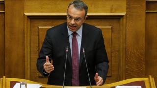 Σταϊκούρας: Η κυβέρνηση αδυνατεί να λύσει το πρόβλημα των κόκκινων δανείων