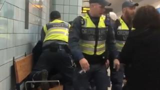 Σουηδία: Σεκιούριτι σέρνουν με τη βία έγκυο από βαγόνι του μετρό επειδή δεν είχε εισιτήριο