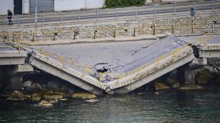Κατέρρευσε γέφυρα στον Φενεό Κορινθίας λόγω των έντονων βροχοπτώσεων