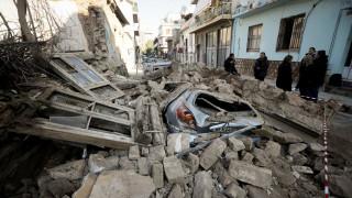 Εικόνες από το Γκάζι: Μεγάλες ζημιές από την κατάρρευση του κτηρίου