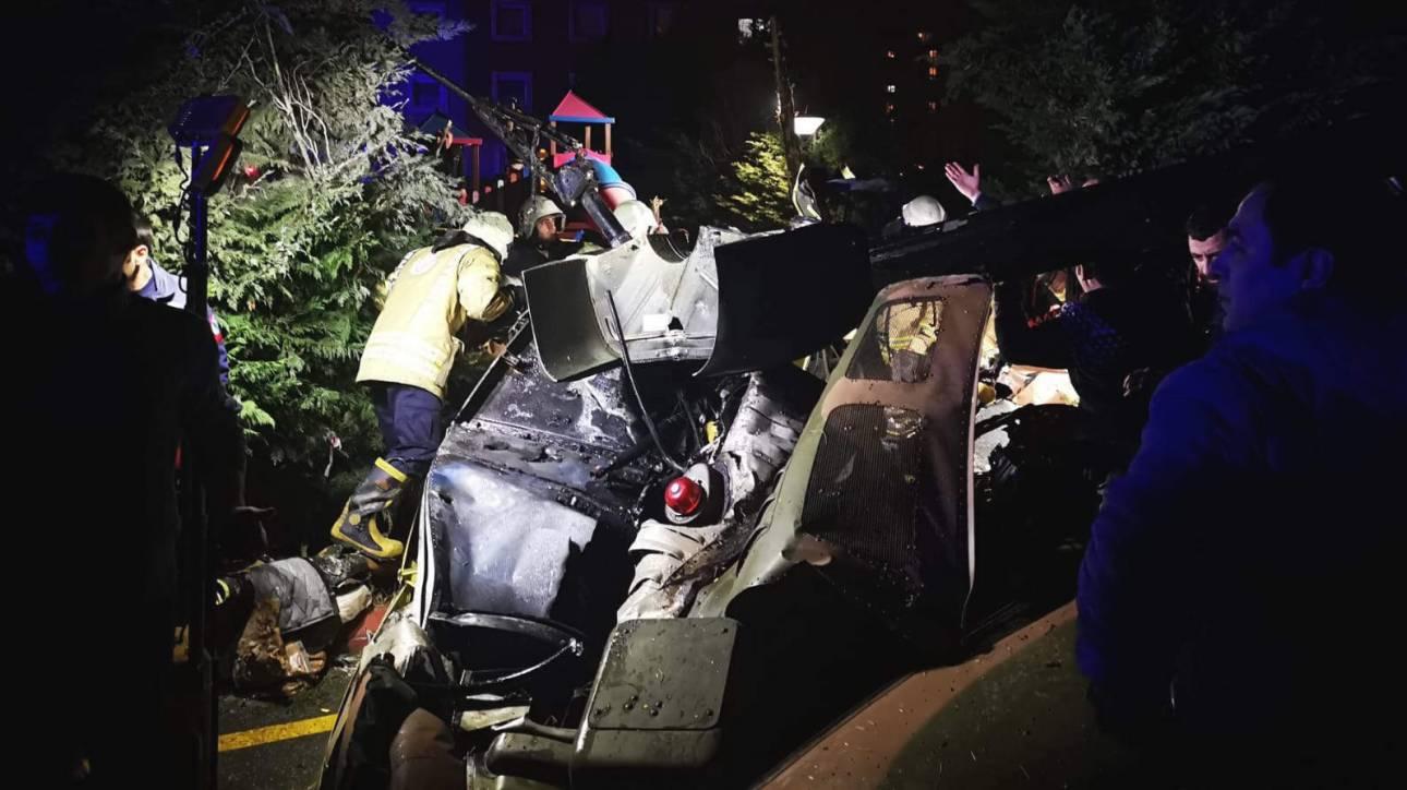 Ελικόπτερο συνετρίβη σε κατοικημένη περιοχή στην Κωνσταντινούπολη