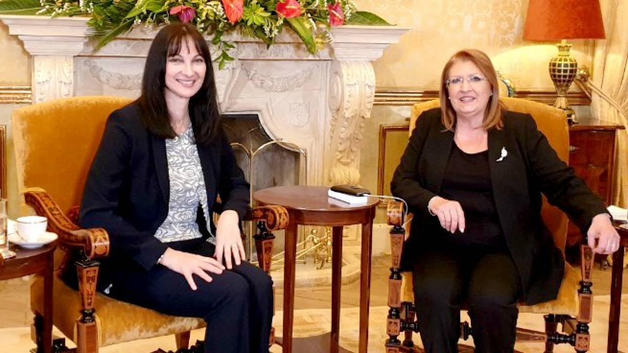 Η Έλενα Κουντουρά στο Προεδρικό Μέγαρο της Μάλτας