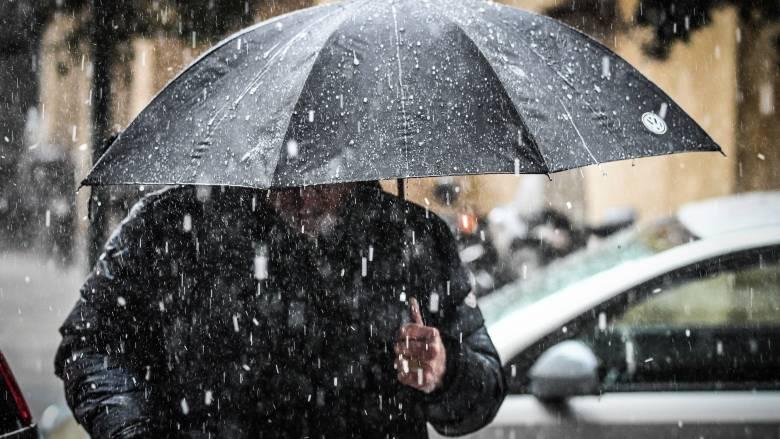 «Χιόνη»: Σε Χανιά και Εύβοια καταγράφηκαν τα μεγαλύτερα ύψη βροχής