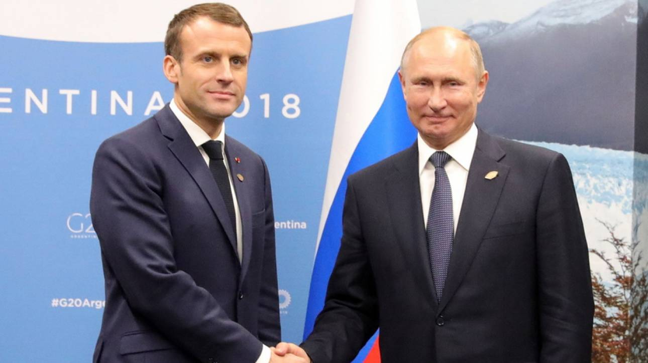 Τις θέσεις του για την Συρία μετέφερε στον Πούτιν ο Μακρόν